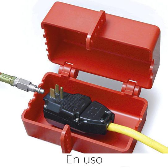 Dispositivo de bloqueo para enchufes eléctricos-neumáticos