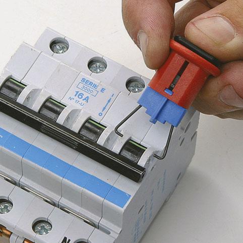 Dispositivos de bloqueo para interruptores miniatura