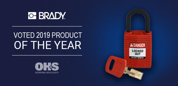 Candados de bloqueo Brady SafeKey, premiados por la OH&S