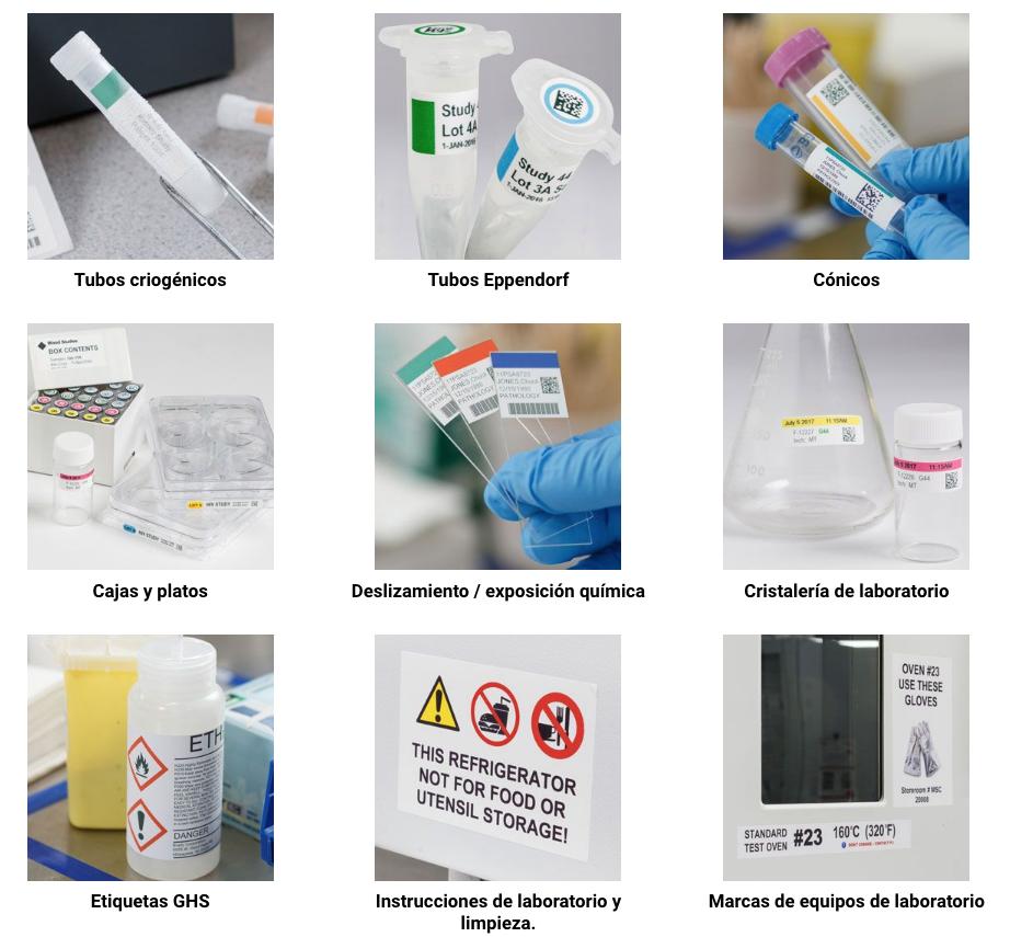 Identificación con color en Laboratorios